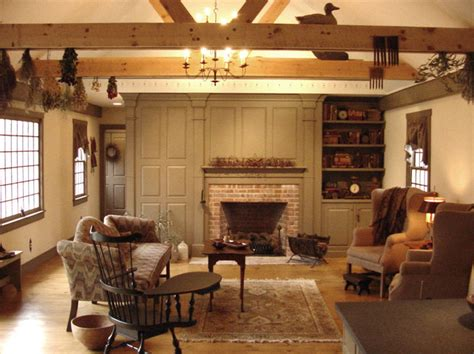 New England Saltbox House by Cch Interiors Gallery Traditional Family Room