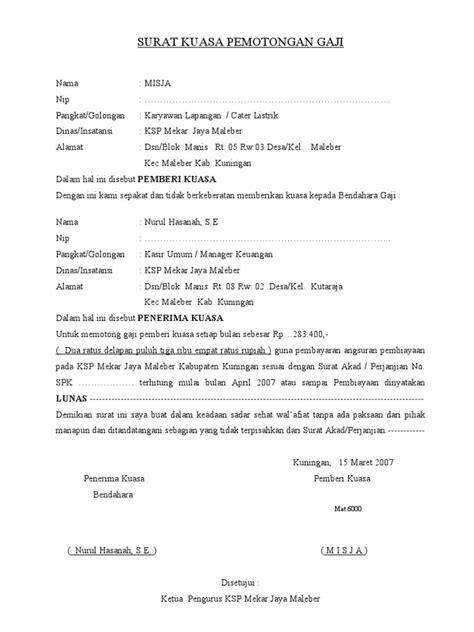 surat kuasa pem gaji