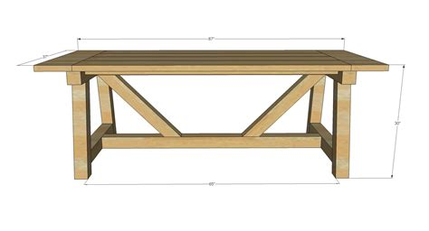 white build a 4x4 truss beam table free and easy diy project and furniture plans