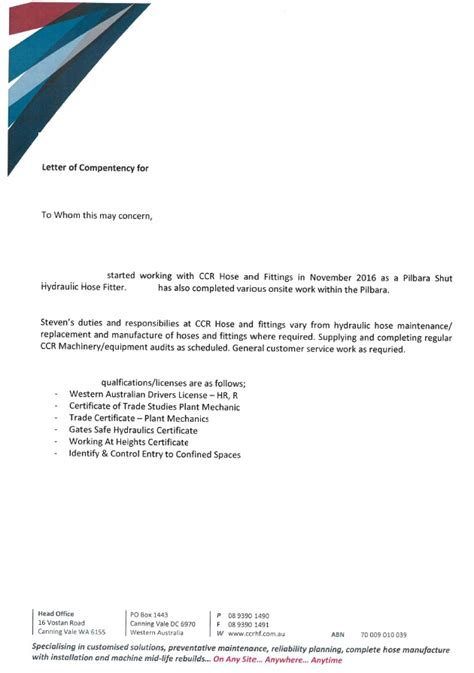 Proof Of Competency Letter Letter Of Declaration Ideas Usage In Nepal The