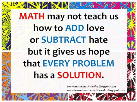 math sayings math quotes quotesgram