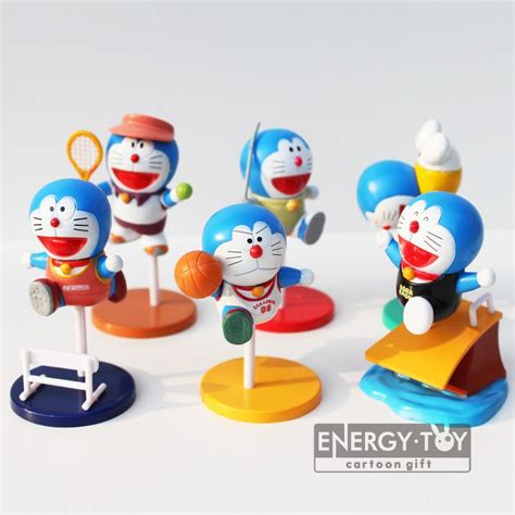 Sarina Toys Doraemon Set Figure 6 Pcs aliexpress buy 6pcs set new doraemon sportsman post model pvc figure
