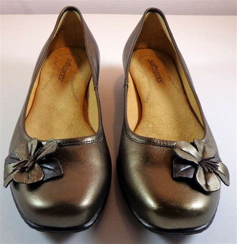 womens size   softspots shoes bronze leather slip ons