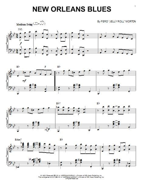 New Blues Songs | new orleans blues sheet music direct