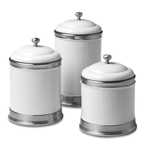 black and white kitchen canisters williams ceramic canisters set of 3 williams sonoma