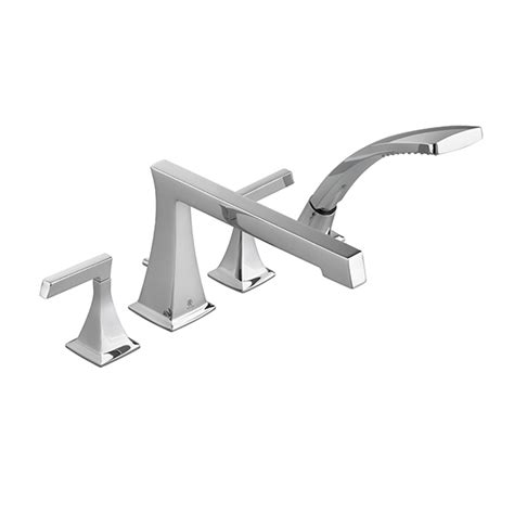 deck mount bathtub faucet tub faucet keefe deck mount tub filler with hand shower
