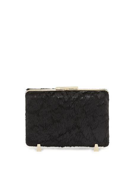 Chastity Handbag Black wang chastity calf hair minaudiere black
