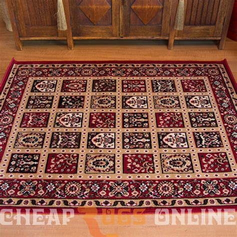 Oriental Floor Rugs Allure 171036 Red Cheap Style Rugs