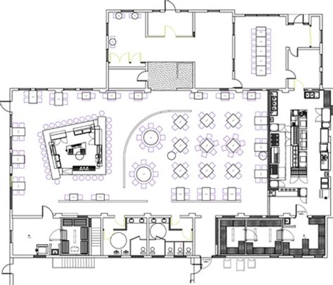 layout restaurant dwg restaurant kitchen plan dwg interior design
