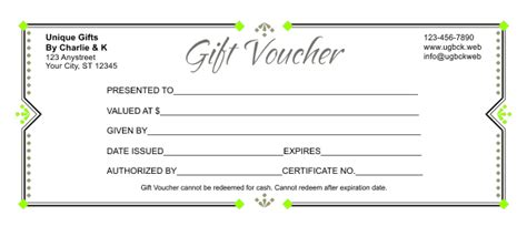 gift coupon template gift voucher template 3