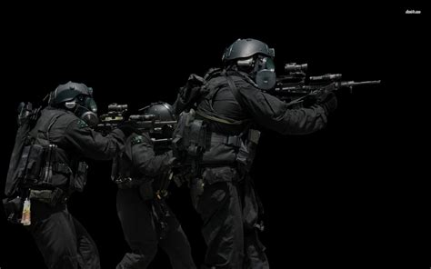 Tactic Black Swat Soldiers 780225 Walldevil