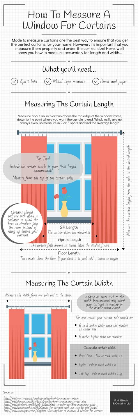 how do you measure up for curtains how to measure a window for curtains infographic ph