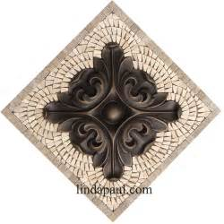 small kitchen back splash medallions mosaic stone and kitchen backsplash plaques ravenna decorative tile medallion