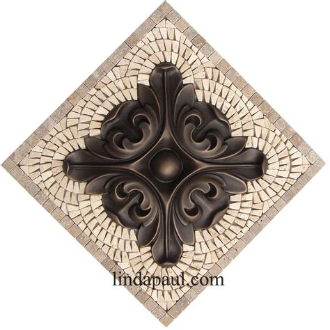 small kitchen back splash medallions mosaic and