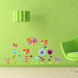 Removable Nursery Wall Stickers kids room decor owl butterfly flower nursery diy removable