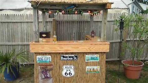 Make A Tiki Bar Back Yard Custom Tiki Bar