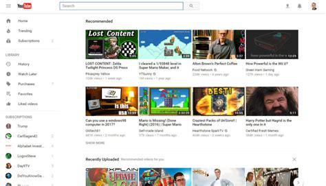 youtube layout broken chrome youtube gives desktop site a material design makeover