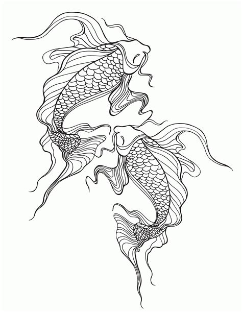 coloring page koi fish koi coloring pages coloring home