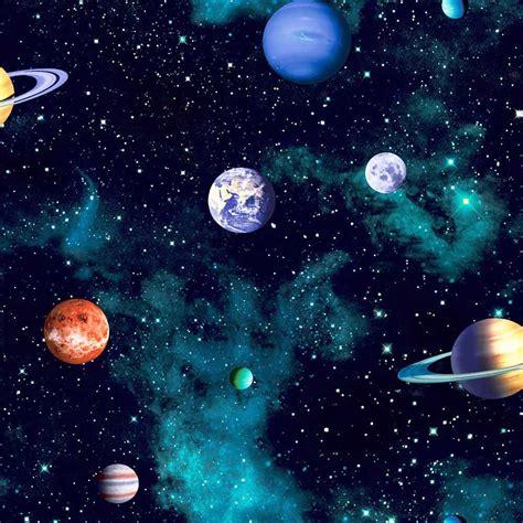weltraum schlafzimmer arthouse tapete planeten sterne sonnensystem weltall 3d