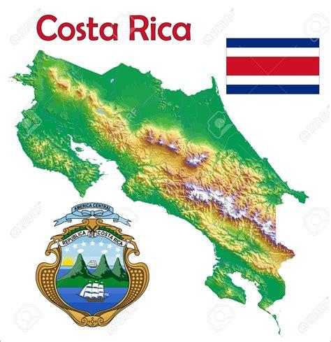 imagenes medicas de costa rica image 37748453 costa rica escudo de bandera de mapa foto