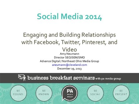 Social Media For Build Communities Engage Members social media 2014 engaging and building relationships pa