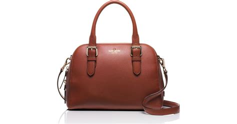 Kate Spade Lydia Leather Brown lyst kate spade new york brighton park small felix leather satchel in brown