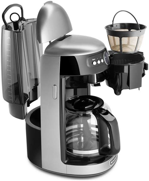 kitchen aid coffee pot new kitchenaid architect kcm222s silver 14 cup glass carafe digital coffee maker ebay