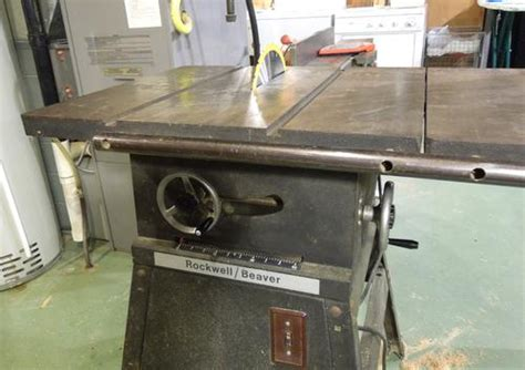 rockwell model 9 table saw repairing an rockwell beaver table saw