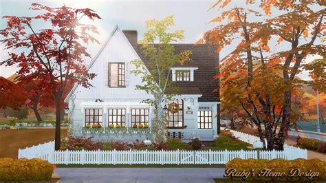 home design no download sims4 autumn cottage 秋天的小屋 no download link ruby s home