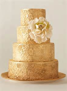 Wedding Cake Gold Gold Fondant Cake