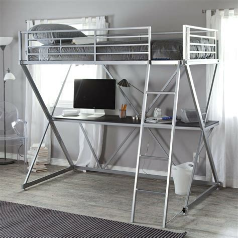 Ebay Bunk Bed With Desk by Duro Z Heavy Duty Bunk Bed Loft With Desk In Silver