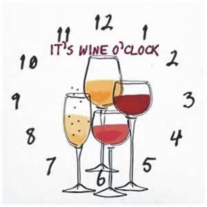 Unique Wine Bottles It S Wine O Clock 12 Hrs Crystal Fantasy Inc