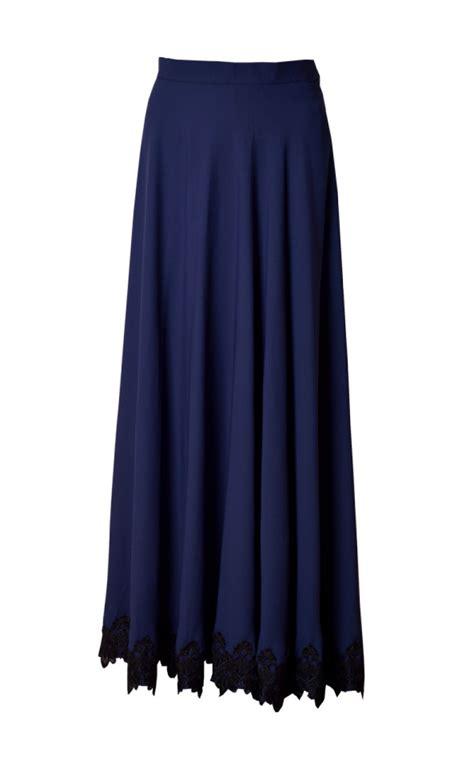 Skirt Sk002 ashiqa maxi skirt in navy blue