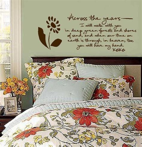 Master Bedroom Wall Decor Stickers Vinyl Wall Decal Across The Years