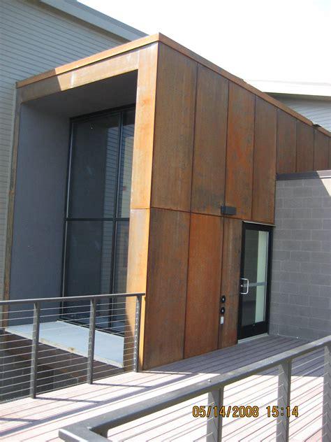 cor ten envelope for entrance area materials pinterest cor ten corten steel and metal panels