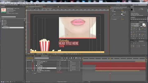 Premiumilk Tutorial 9 Popcorn Broadcast Package After Effects Template Youtube Broadcast After Effects Template