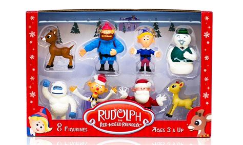 rudolph 8 figurine set groupon goods