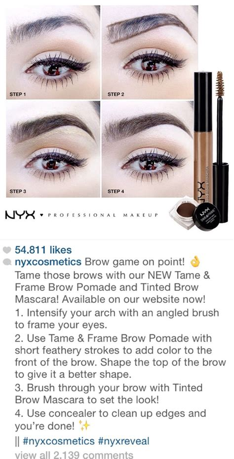 eyebrow tutorial instagram nyx instagram tutorial for great eyebrows with their