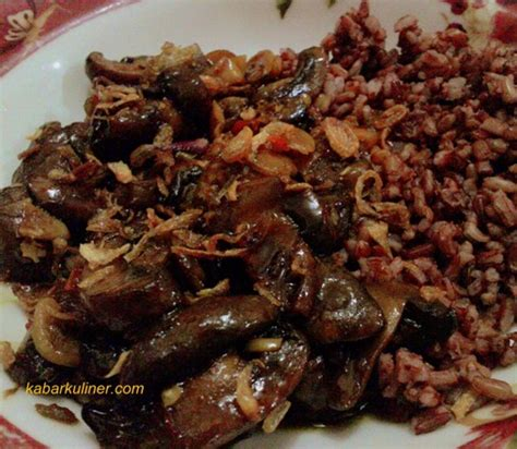 Iga Saus Plum Vegetarian menu vegetarian resep jamur gongso kabarkuliner