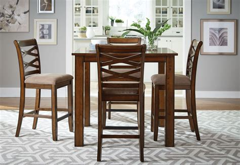 piece counter height dining room sets redondo vibrant cherry 5 piece counter height dining room
