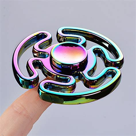 Fidget Spinner Ufo Premium Rainbow Murah zinc alloy rainbow fidget spinner maze