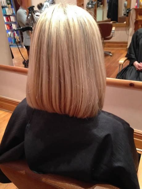 before and after cool blonde chic cut neil george pictures of the back of shoulder lenth hair back view of