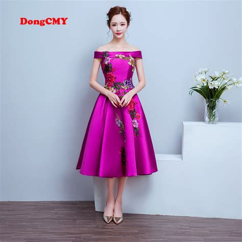 Colorful Pattern Smlxl Dress 24997 dongcmy 2017 medium evening plus size lace up purple color flower pattern prom