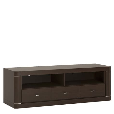 Wenge Drawers by Camden Wide 3 Drawer Tv Unit In Wenge