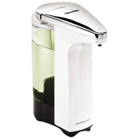 simplehuman 8 oz touch free sensor soap pump white