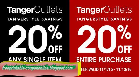printable outlet coupons printable coupons 2017 tanger outlet coupons