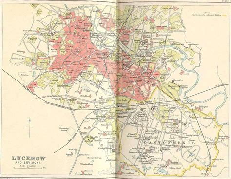 map of lucknow city image gallery lucknow map