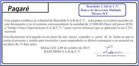 pagare conformado por el banco ejemplo de pagar 233 bancario