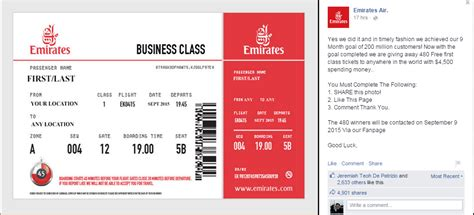 emirates wifi promo code how to spot fake airline offers on facebook and avoid them