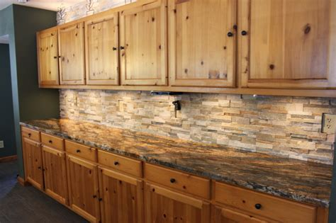 rustic backsplash tile brown slate rustic kitchen backsplash tile design ideas